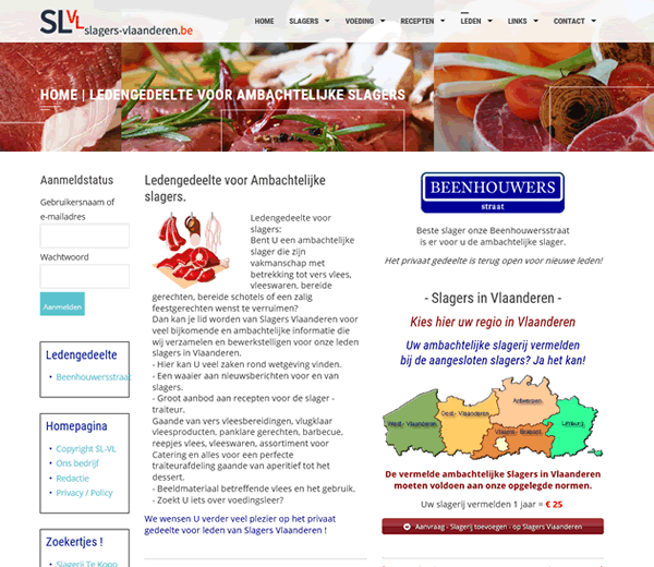 Website Slagers Vlaanderen