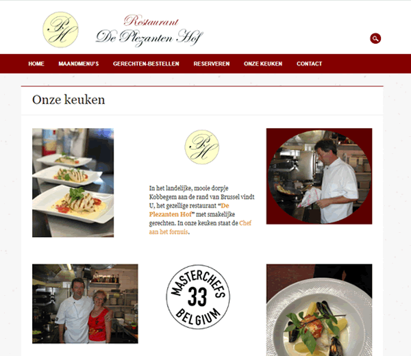 Website De Plezanten Hof