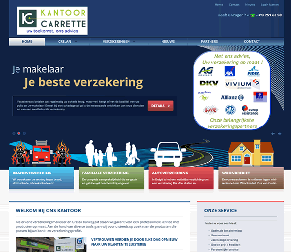 Website Kantoor Carrette