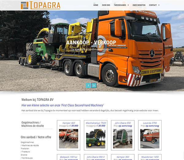 Website Topagra bv
