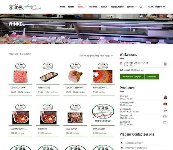 Webshop Hoeveslagerij Nachtergaele