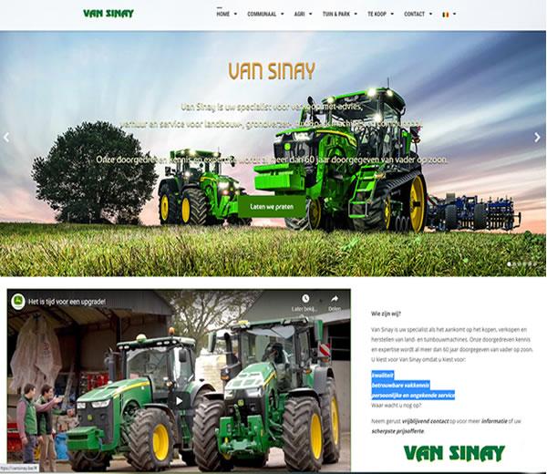 Website Van Sinay BV te Herne | Referenties