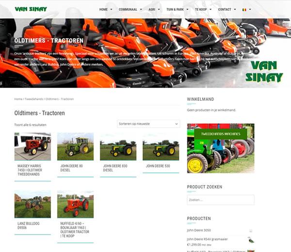 Webshop Van Sinay BV te Herne